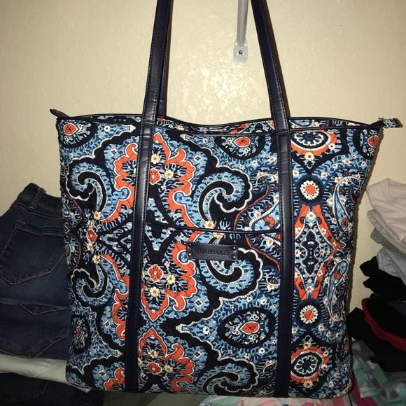 8d17660310 Vera Bradley Marrakesh Small Trimmed Vera Tote Bag.  M 5acc13f205f430a3f6d61456
